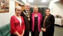 Officers with Mayor of Solihull